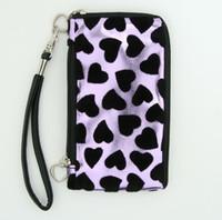 Heart purple mobile bag