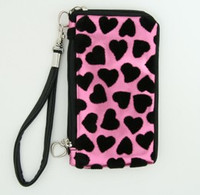 Heart pink mobile bag