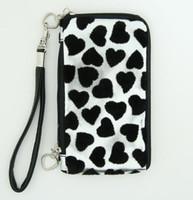 Heart silver mobile bag