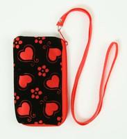 Heart flower red mobile bag