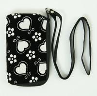 Heart flower white mobile bag