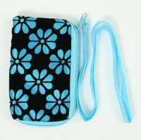 Flower blue mobile bag