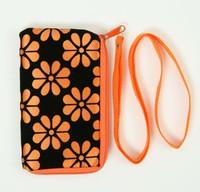 Flower orange mobile bag
