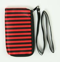 Stripe black-red mobile bag