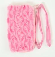 F plain L-pink mobile bag