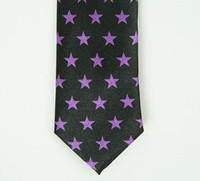 Stars purple necktie accessory
