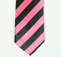 Stripe pink necktie accessory
