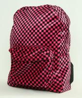 Check pink fluffy rucksack