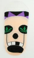 M marijuana eye socks accessory