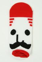 M mustache red socks accessory