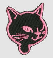 S cat head black-pink