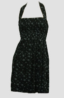 Front EB stars black-grey elastic dress
