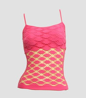 Front - Fish pink top net top