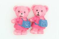 C bear bag pink colorful stud