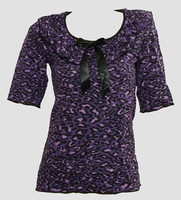 Front - Leopard purple classic top pin up