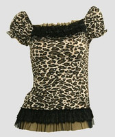 Front - L leopard brown classic top pin up