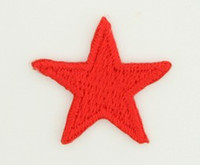 S star red small patch