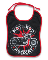 Hot bobber printed bib for all daily meals.