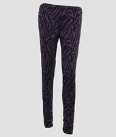 F zebra purple fashion legging