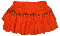Mini skirt with beads orange neon
