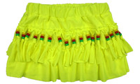 Mini skirt with beads yellow neon