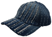Lines of diamonds cap headwear