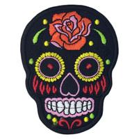Black skull ancient aztec
