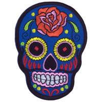 Blue skull ancient aztec