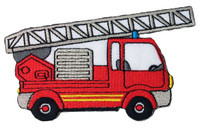 Fire engine red truck