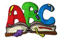 ABC bookworm letters
