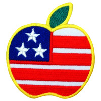 Apple of american dream flag big patch