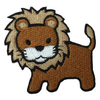 Lion king of Africa brown medium patch
