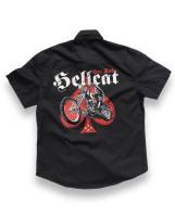 Skull biker hotrod hellcat worker shirt