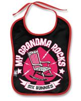 Grandma rocks six bunnies bib