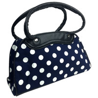 Big white dots on blue - bowling bag