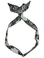 Black on white doodle - pin up head band
