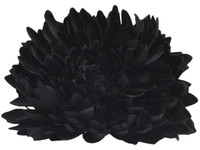 Black opium single hair flower clips