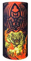 Oriental tiger attack on black and Orange