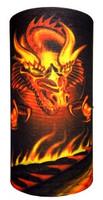 Oriental dragon hellfire on black