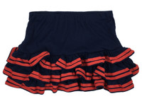 Sweet and dark blue with red tufted bottom