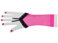Pink net sexy diva gloves and arm warmer
