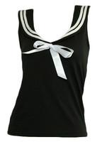 Front - TS u black top sailor top