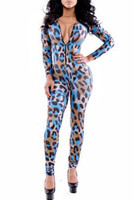 Front - zippered long sleeve catsuit