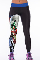 Front - 3D print high waist womens sport yoga pants