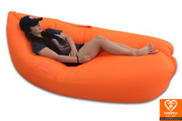Orange air sofa - inflatable lounge couch