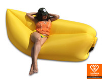 Yellow air sofa - inflatable lounge couch