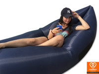 Dark blue air sofa - inflatable lounge couch