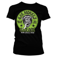 Proud Rebel Green Emblem - Gas Monkey Garage Lady T-shirt