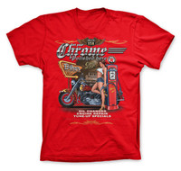 Get Your Biker Chrome Polished Hotrod Men T-Shirt (Red)