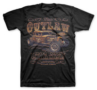 Outlaw Hotrod Garage Stolen Parts Men T-Shirt (Black)